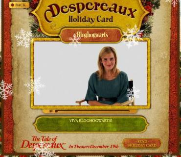 Envía Tarjetas Navideñas de 'Despereaux' con un Nuevo Videoclip de Emma Watson!