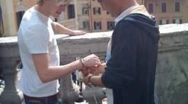 Tom Felton de viaje en Roma