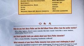 Traducción de Entrevistas a los Actores de 'Harry Potter y el Misterio del Príncipe'