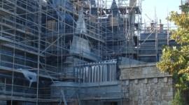Más fotografías de la construcción del Parque Temático de Harry Potter