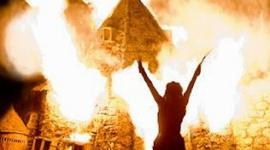 Controlado Incendio durante Rodaje de las Escenas de Batalla para 'Las Reliquias'