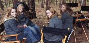Hermione x 4 en el Set de Filmación de 'Harry Potter y las Reliquias de la Muerte'