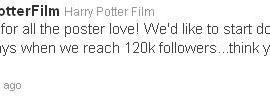 Cuenta Oficial de 'Harry Potter' en Twitter Busca Seguidores para Revelar Más Posters!