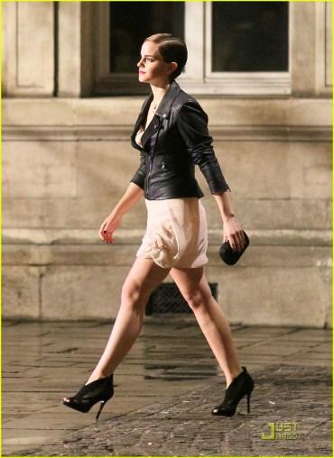 Primer Vistazo de Emma Watson Filmando Anunció de Perfume para Lancôme París