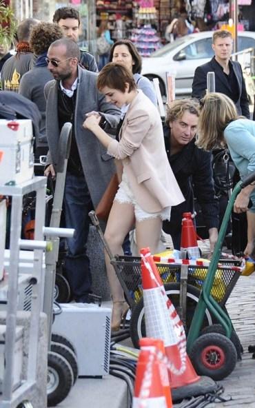 Nuevas Fotografías de Emma Watson Filmando Comercial para Lancôme