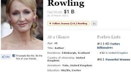 JK Rowling, entre las 100 Mujeres Más Poderosas del Mundo según 'Forbes'!