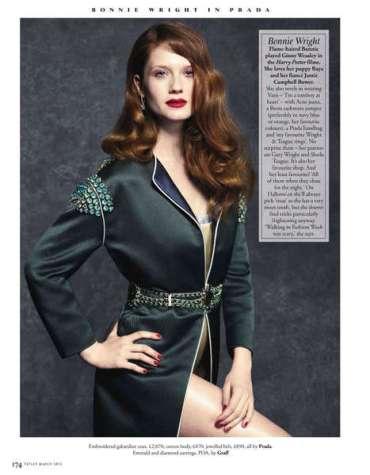 Primer Vistazo a Boonie Wright Posando para la Edición de Marzo de la Revista 'Tatler'