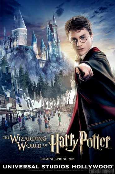 Poster oficial del Parque Temático de Harry Potter en Hollywood