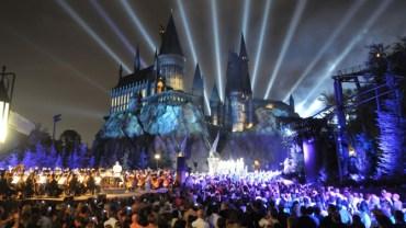 Primer vistazo al parque de Harry Potter de Hollywood en 360 grados