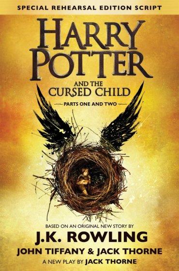 Mira la portada oficial de Harry Potter and the Cursed Child