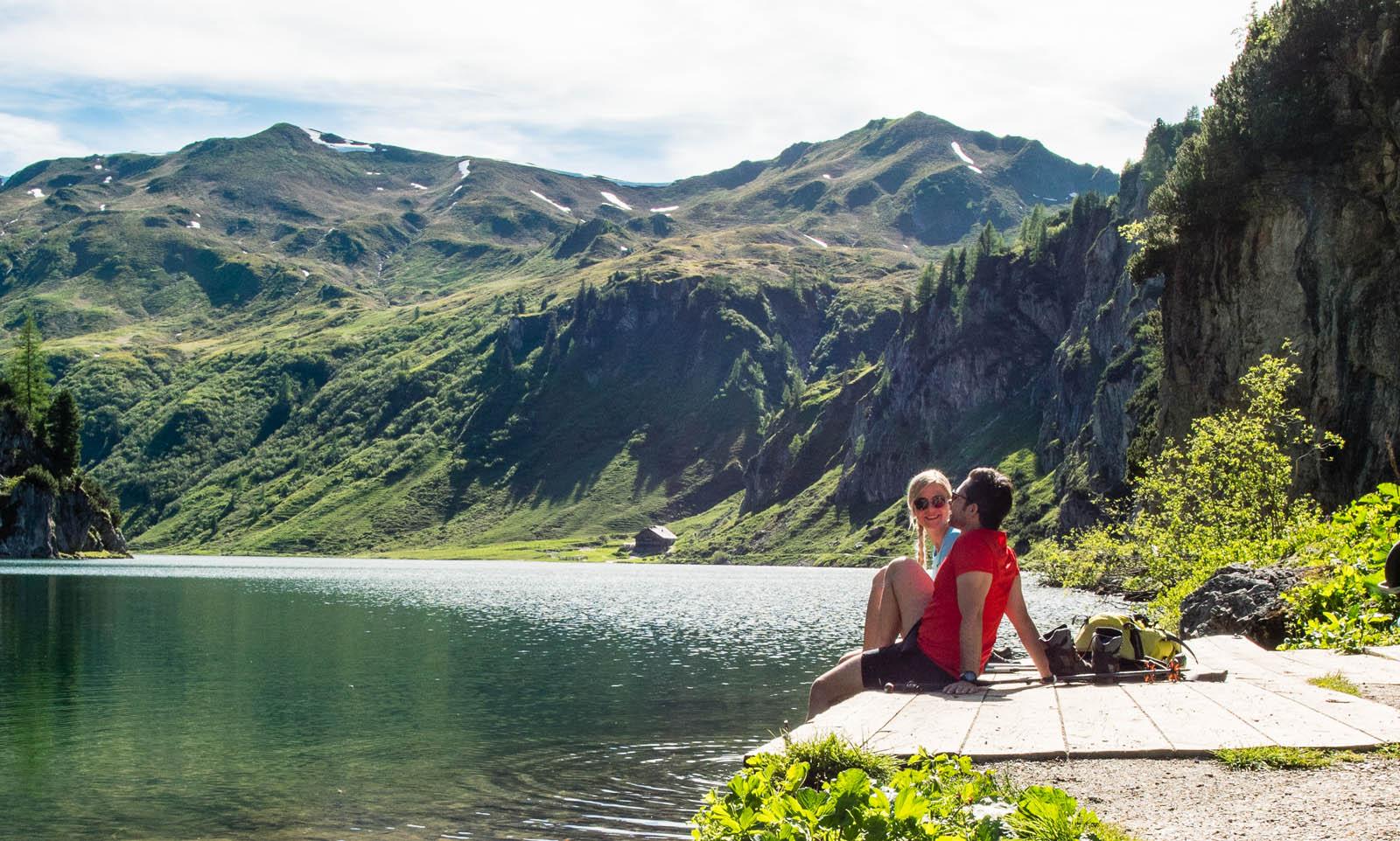 Aussicht hoch 2 auf der Wanderung zum Tappenkarsee blogHuette.at image 4