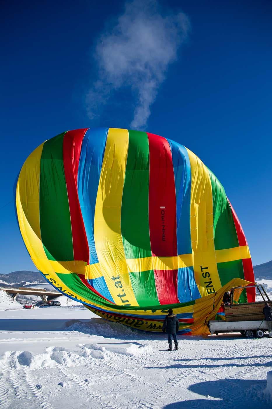 Balloon fahren in Filzmoos in der Salzburger Sportwelt