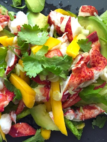 Lobster Salad with Avocados and Mangoes