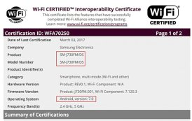 Samsung Galaxy J7 2017 vicino al debutto, arriva la certificazione Wi-Fi