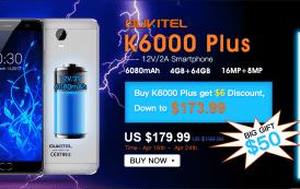 Oukitel K6000 Plus: una nuova offerta con un omaggio da non perdere