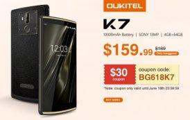 OUKITEL K7: iniziate ufficialmente le prevendite su Bangood con un coupon per averlo a 140 euro