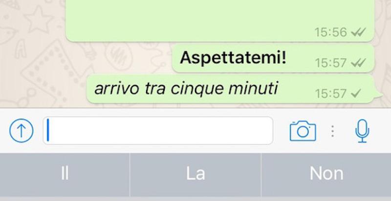 Come scrivere in grassetto, corsivo o sbarrato su Whatsapp