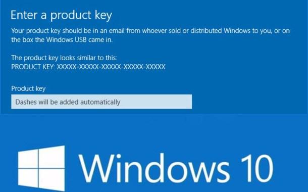 Come cambiare product key su Windows 10 dal pannello di controllo