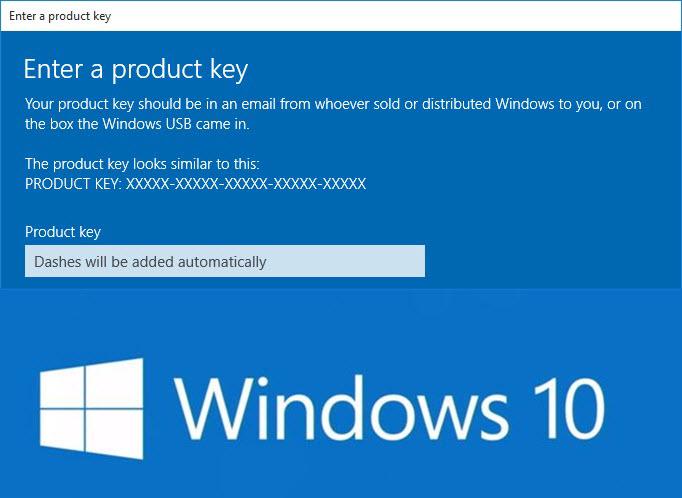 Come cambiare product key su Windows 10