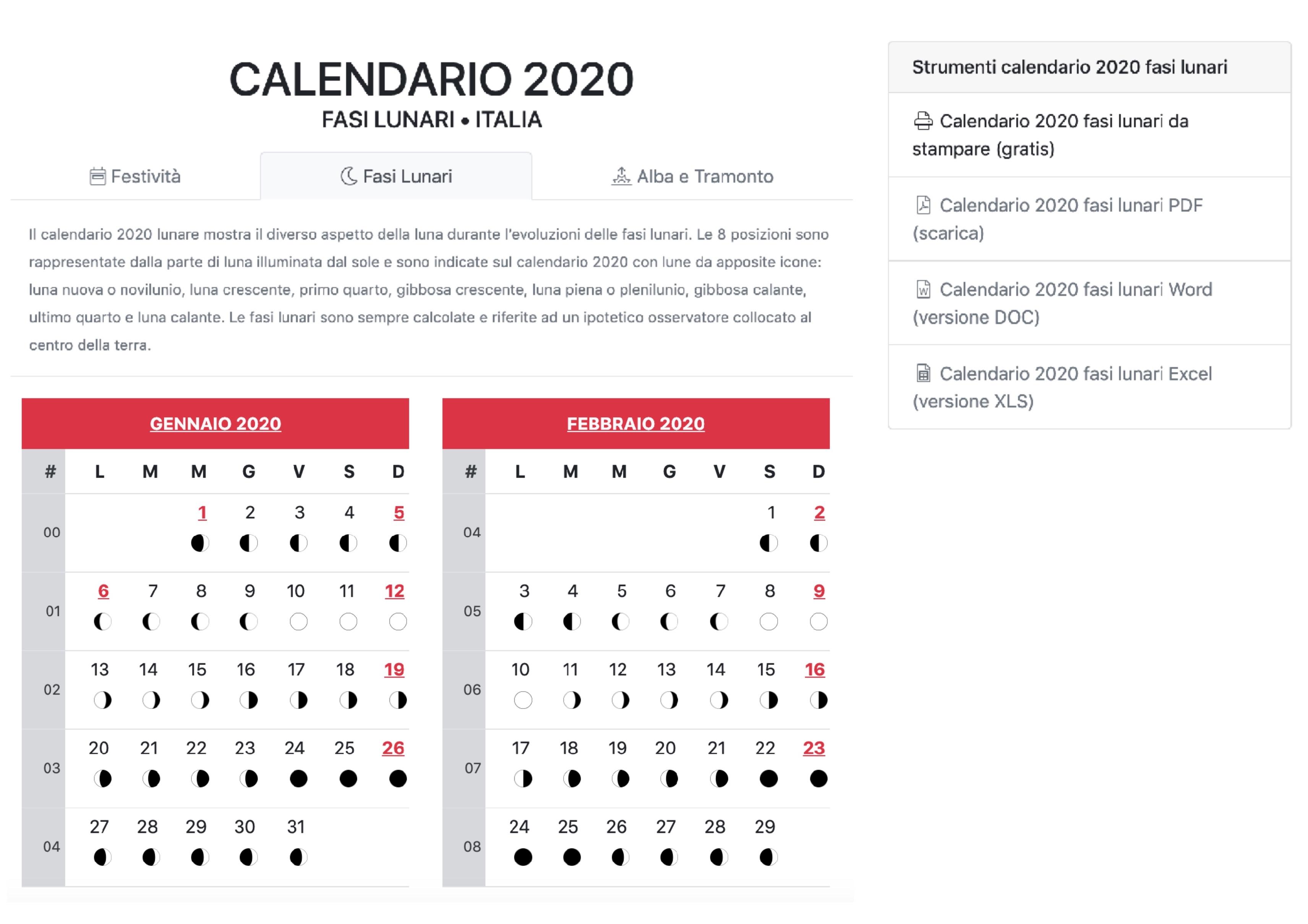 Calendario 2020 Da Stampare Con Festivita.Calendario 2020 Utilita Eventi Ecco Tutto Cio Che C E Da