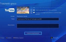 Come trasmettere su YouTube con PlayStation 4