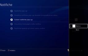 Come attivare o disattivare le notifiche pop-up su PS4