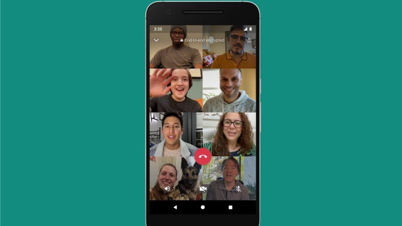 Come avviare videochiamate su Whatsapp con 8 partecipanti