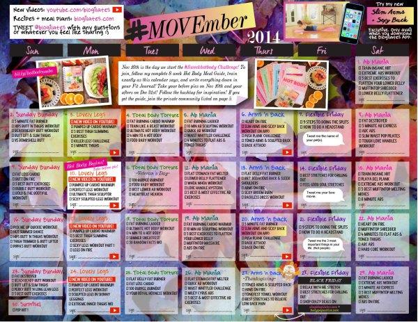Blogilates February Workout Calendar Imgurl