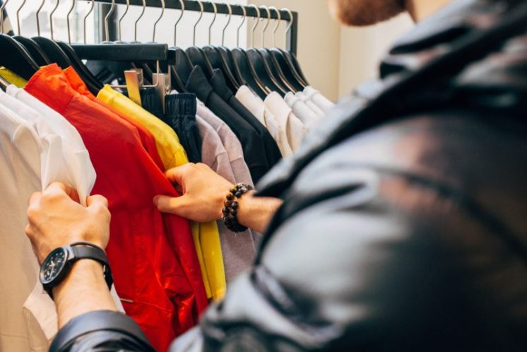 man shopping clothes