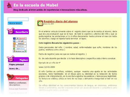 En la escuela de Mabel