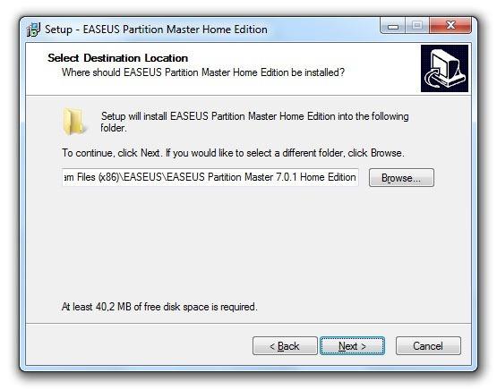 Instalación de EASEUS Partition Master 5