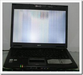 Portátil Acer TravelMate 6460 - Pantalla dañada