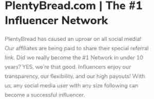 plentybread influencer network