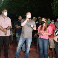Othelino prestigia reinauguração da Praça da Bíblia e anuncia emenda para reforma de novas áreas de lazer em Pinheiro