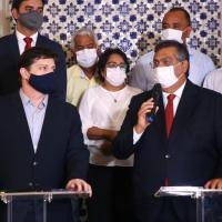 Flávio Dino e Baleia Rossi dialogam sobre defesa da democracia, combate à pandemia e meio ambiente
