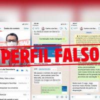 Secretário Carlos Lula denuncia perfil fake no WhatsApp