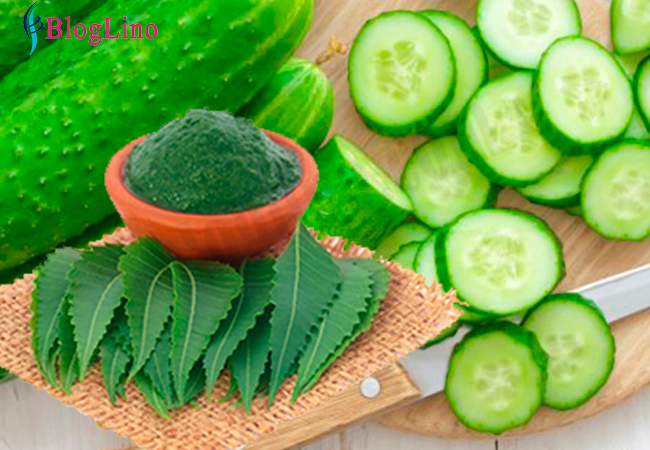 neem-cucumber-face-pack-for-acne
