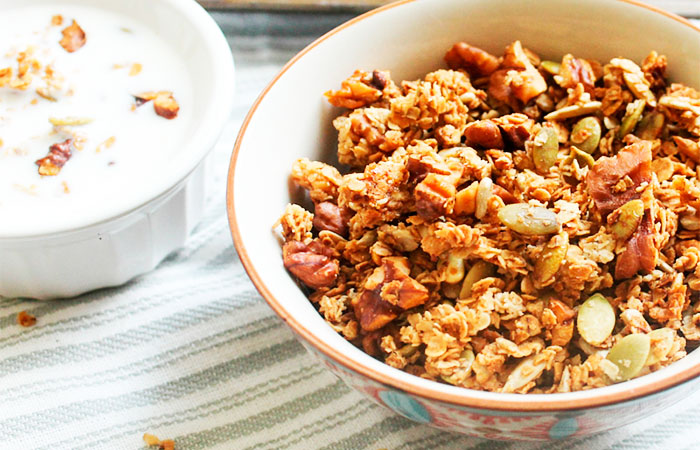Granola with Nuts and Whole Milk for Weight Gain
