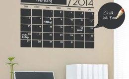 Calendário para home office