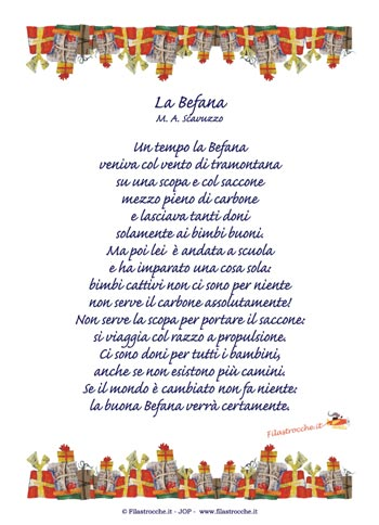 Poesie e filastrocche sulla Befana  Blogmammait