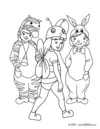 Gruppo Di Bambini Da Colorare Stampa Disegno Di Grande