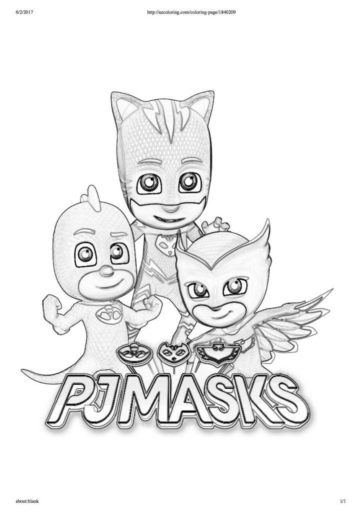 disegni da colorare dei PJ Masks  scritta  Blogmammait  Blogmammait