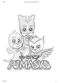 disegni da colorare dei PJ Masks + scritta - Blogmamma.it ...