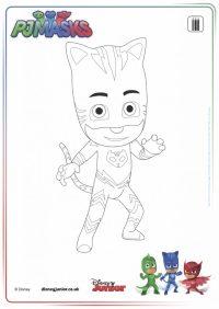disegni da colorare dei PJ Masks_Gatto Boy