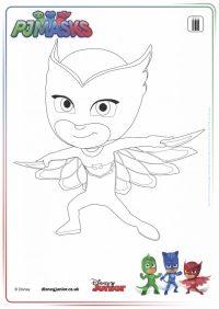 disegni da colorare dei PJ Masks_Gufetta - Blogmamma.it ...