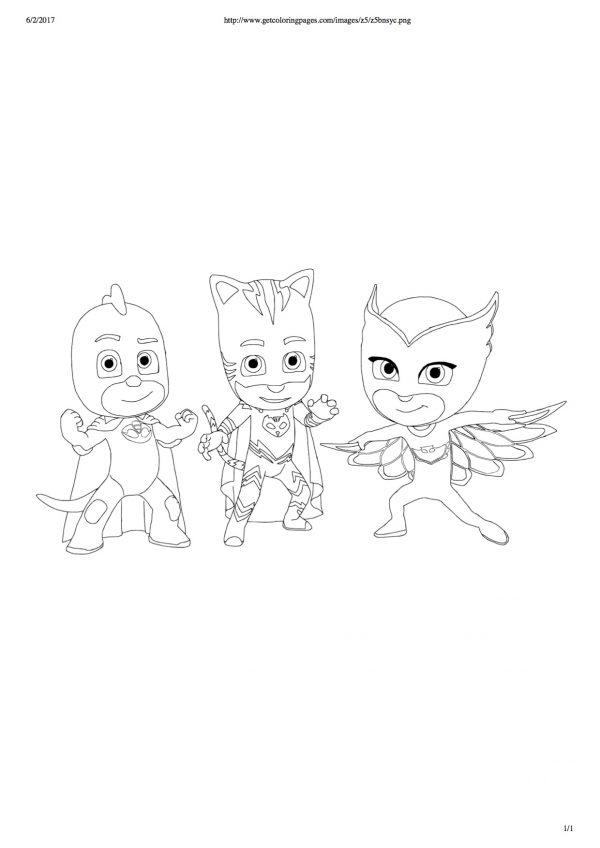 disegni dei PJ Masks da colorare_superpigiamini
