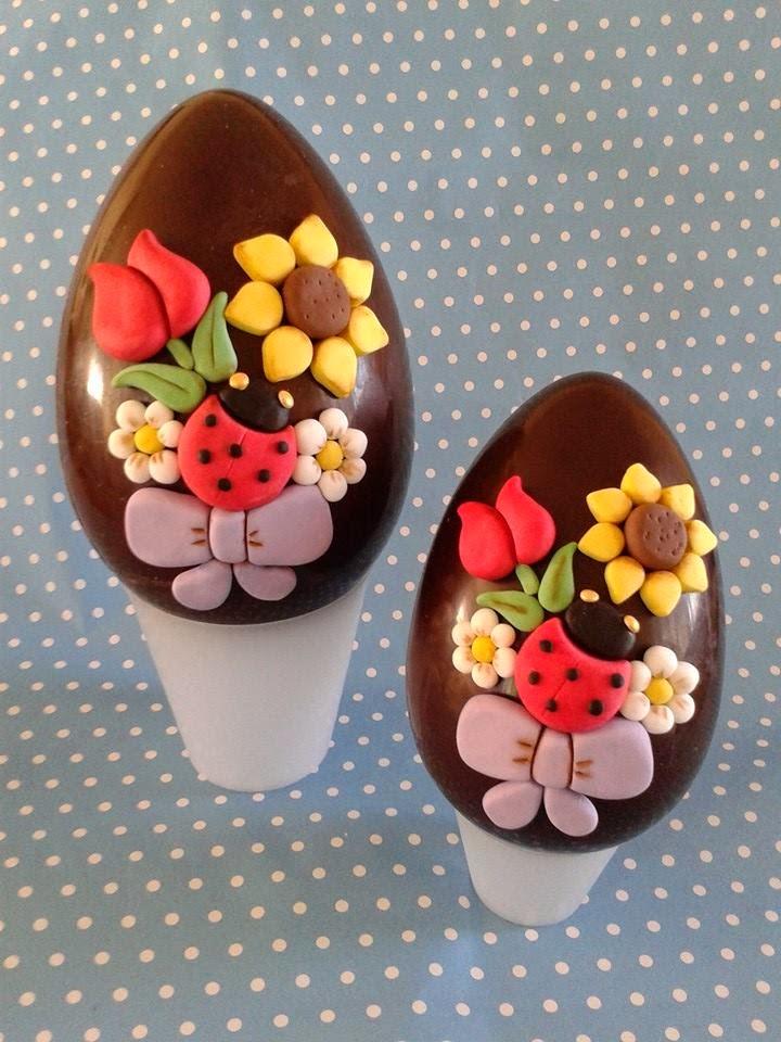 Uova Di Pasqua Decorate Con Pasta Di Zuccherofiori E