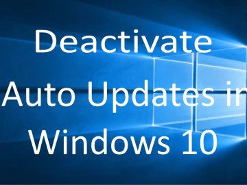 deactivate automatic updates in windows 10