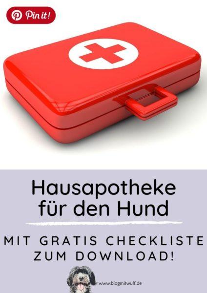 Pin it - Hausapotheke für den Hund mit gratis Checkliste