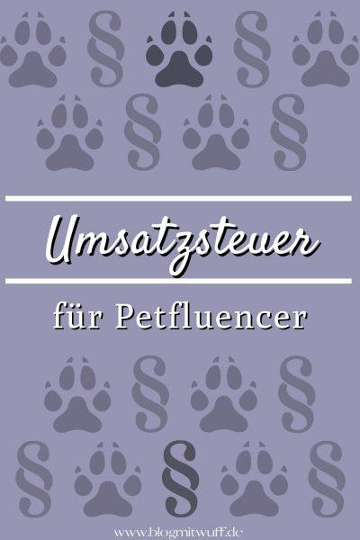 Umsatzsteuer für Petfluencer Pin